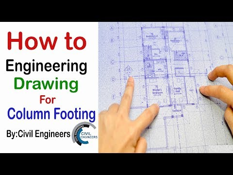 How to Study Engineering Drawing for Column footing and buil