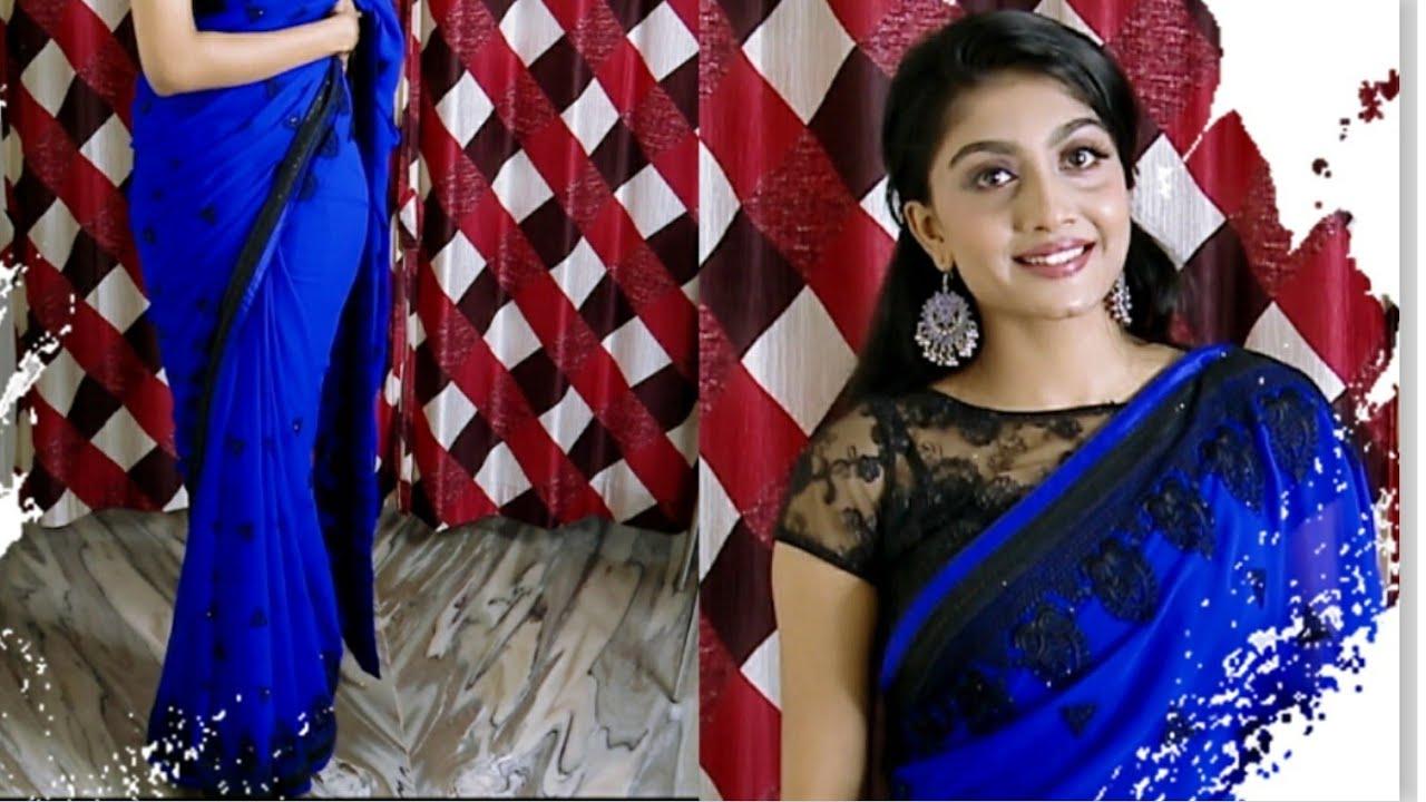 How to drape a Saree easily   Chiffon, Georgette saree   Tips and tricks