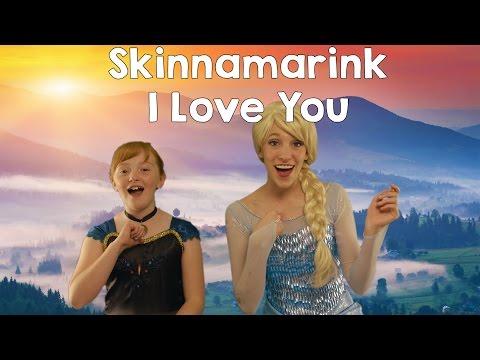 Disney Frozen Elsa and Anna - I love you (Skinnamarink) | sing-a-long nursery rhymes