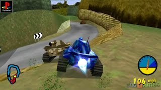 Tank Racer - Gameplay PSX / PS1 / PS One / HD 720P (Epsxe)