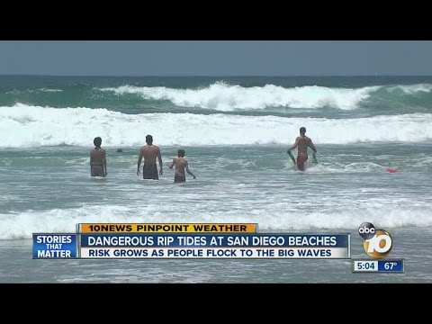 Dangerous rip currents at San Diego beaches