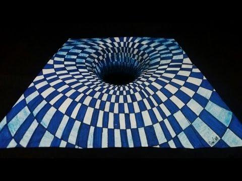 3D Delik Çizimi - Göz Yanılması