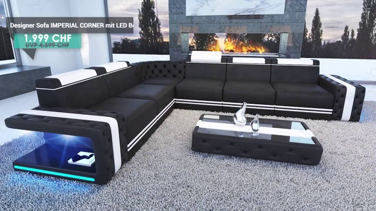 Sofa Mit Led Affordable Big Sofa Skyline Mit Led Beleuchtung Von Nativo Mbel Sterreich With