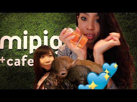 Micro Pig Cafe! 🐷x  Date Night?💖  JAPAN VLOG #34