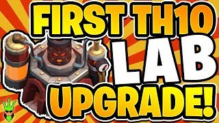 THE FIRST LAB UPGRADE! - TH10 Free To Play - Clash of Clans