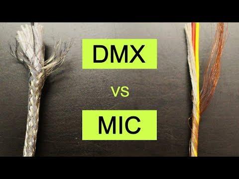 Cable DMX vs Cable de Microfono