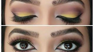 colourful smokey eye tutorial yellow purple bh eyes on the 60 s palette