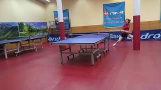 Настольный теннис интересный момент бум Boom!!  или Чпоньк об столб :)