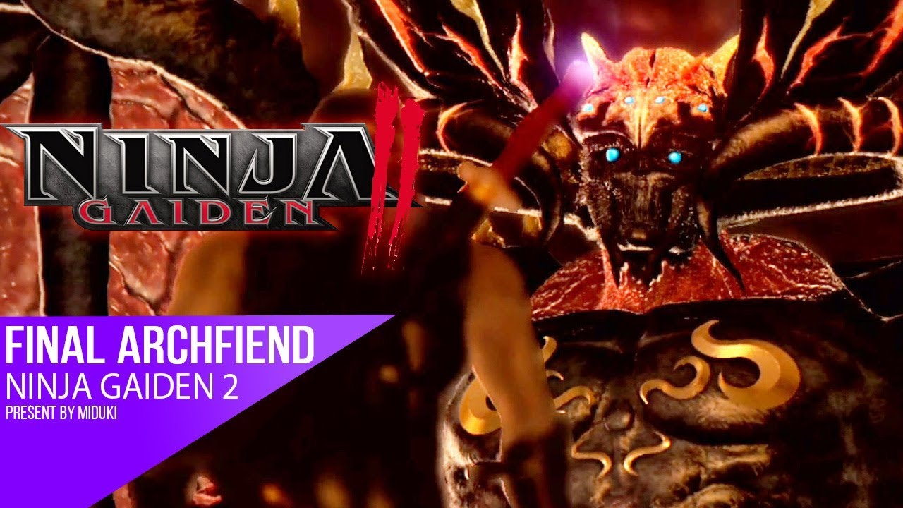 Ninja Gaiden 2 Final Boss Archfiend Dragon Sword Youtube