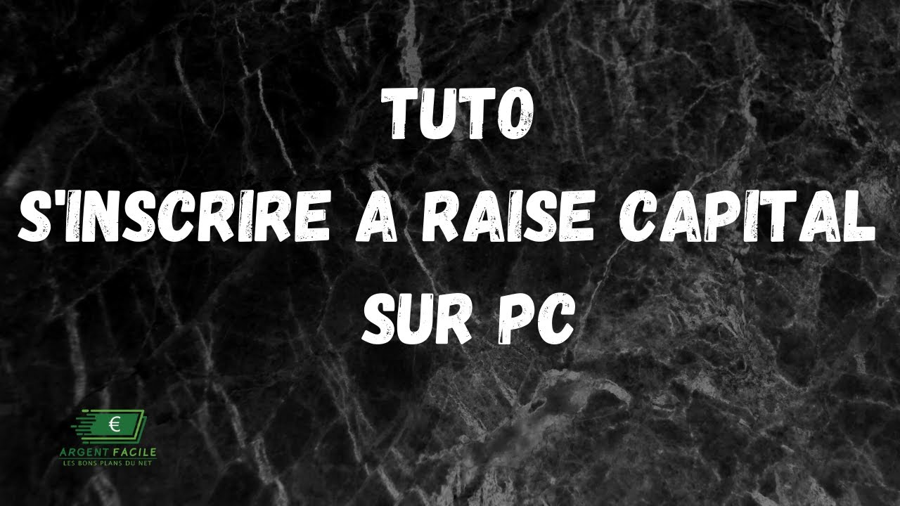 Tuto   comment s'inscrire a Raise Capital Smart Contract sur pc