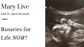 Mary Live with Dr. Mark Miravalle - Rosaries for Life NOW!