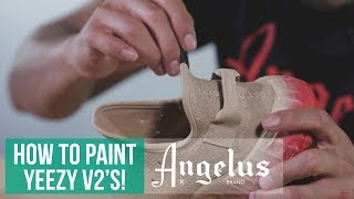 Video Yeezy Boost 350 V2 | How to paint fabric materials with Angelus Paint download MP3, 3GP, MP4, WEBM, AVI, FLV Agustus 2017