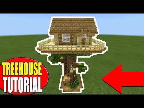 Minecraft Tutorial: How To Make A Survival Tree house