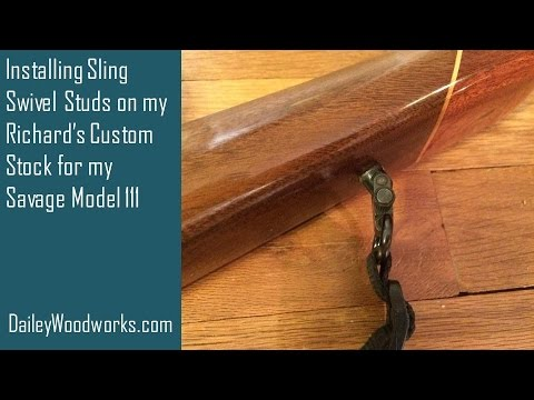 How To Install Sling Swivel Studs In A Rifle Stock Youtube