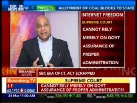 Prashant Mali Cyber Law Expert talking on court decision of Section 66A