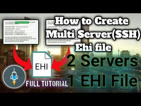 How to Create Multi Server (SSH) Ehi File