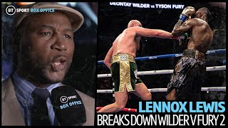 Lennox Lewis: Tyson Fury will come out early and put it on Deontay Wilder