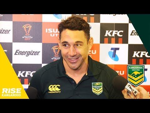 Kangaroos v Fiji Post Match: Slater
