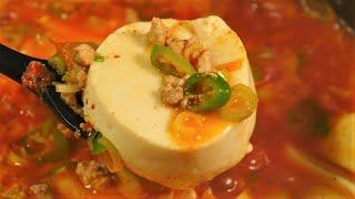 김치 순두부찌개 / 칼칼하게 맛있는 밥 도둑 순두부 찌…