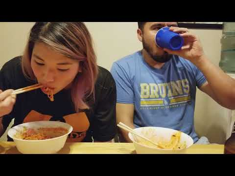 Our own lil korean spicy noodle challenge