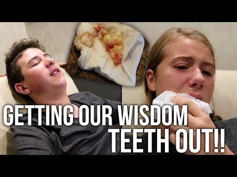 GETTING OUR WISDOM TEETH REMOVED!! *Funny Reactions*
