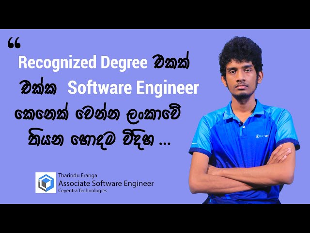 The best institute for software engineering. Tharindu said...