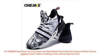 ☑️ ONEMIX New Road running shoes men Breathable Sport Sneakers Unisex