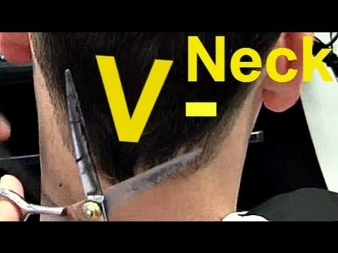 Barber Tutorials 6   V Shaped Neck Hairline + Point Cut On Top