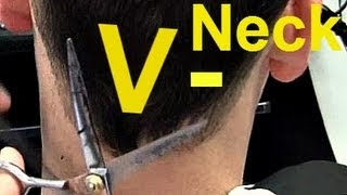 Download Video ✄ Barber Tutorials 6 - V-shaped Neck Hairline + Point Cut on Top MP3 3GP MP4