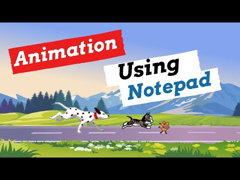 How To Create A Simple Animation Movie In Notepad Using HTML   Animation In HTML   Html Animation