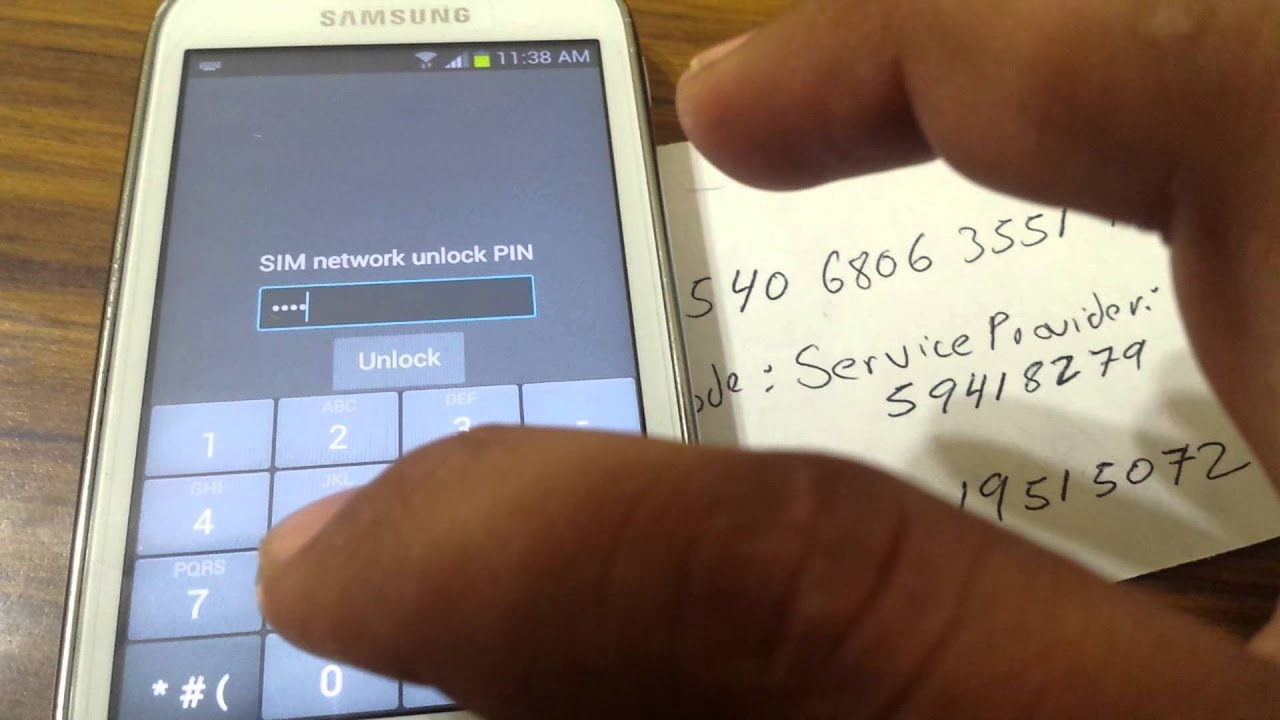 Samsung exhibit t599n unlock error