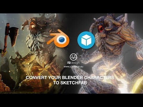 P2design -  Export and enhance your 3D models from Blender to SKETCHFAB