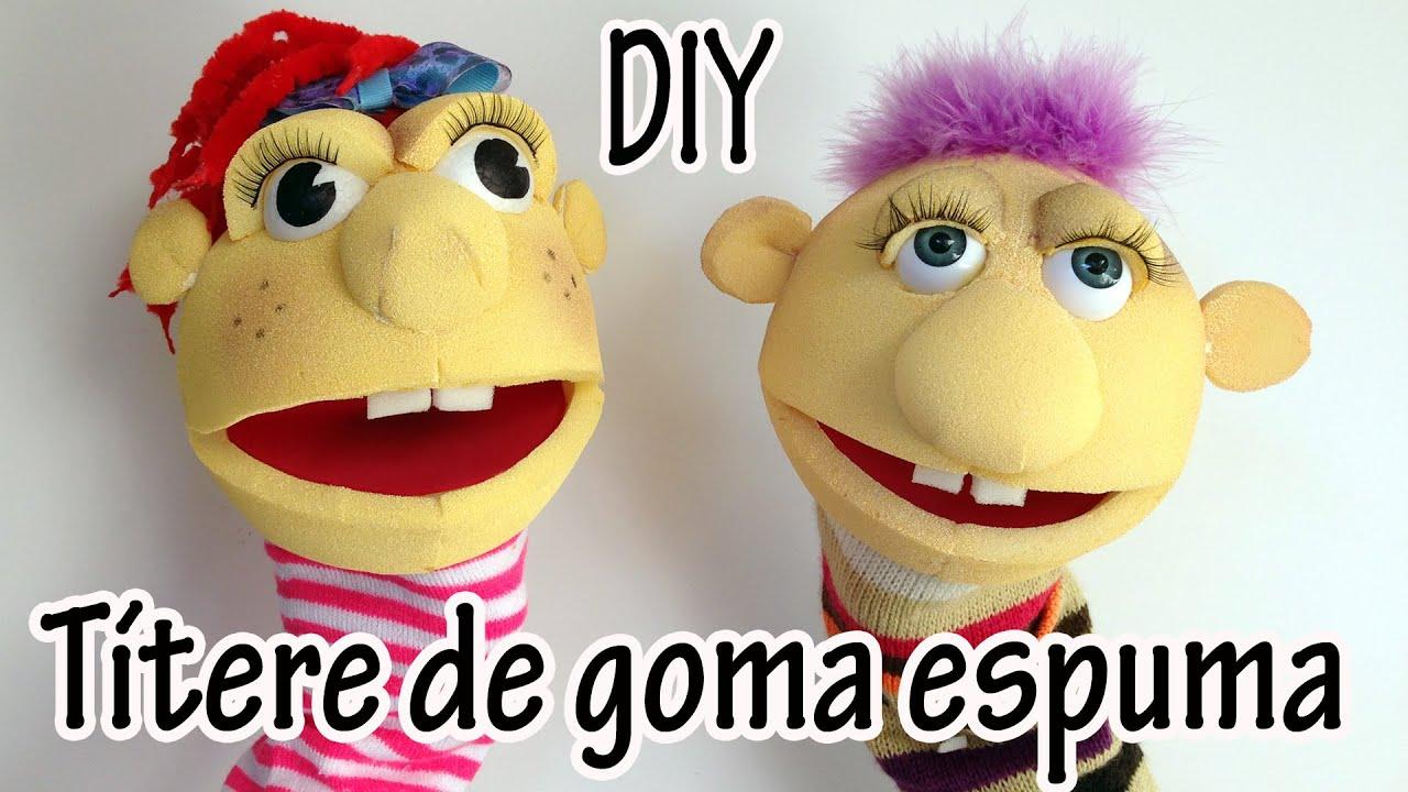 Como hacer t teres de goma espuma manualidades para - Como hacer marionetas de mano ...