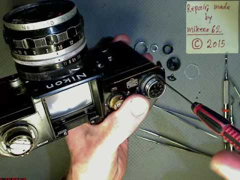 Disassemble Nikon F with stuck film advance__DISASSEMBLE_ONLY__Motion lapse film