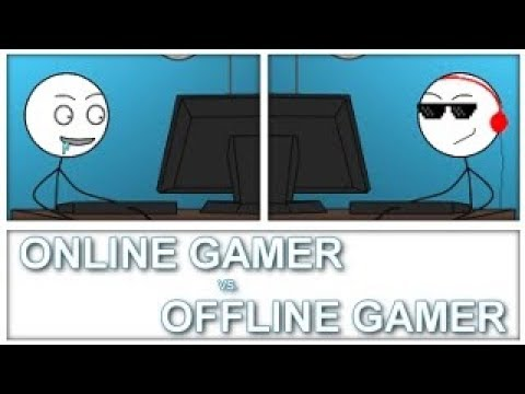Online Gamer Vs Offline Gamer | The Epic Battle