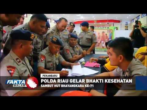 Polda Riau Gelar Bhakti Kesehatan