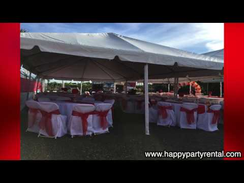 Wedding Tent Rental 20x40 With Decorations - Happy Party Rental Miami