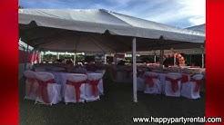 Wedding Tent Rental 20x40 With Decorations - Happy Party Rental Miami