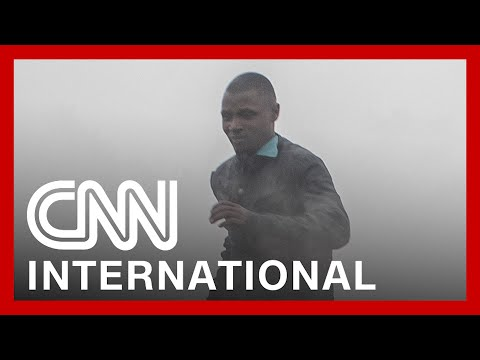 Footage shows lava flow after volcano erupts in Democratic Republic of Congo