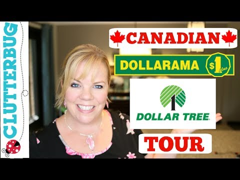 Canadian Dollar Store Tour - SHOP WITH ME - Dollarama And Dollar Tree