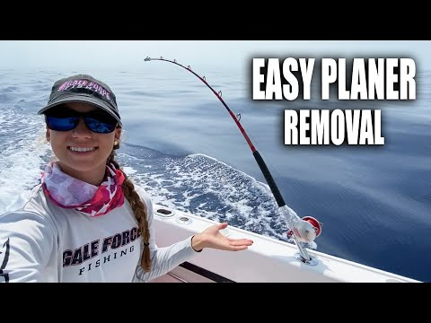 HOW TO PLANER FISH WITH WIND ON LEADER! Best Way To Catch Wahoo & Kingfish | Gale Force Twins
