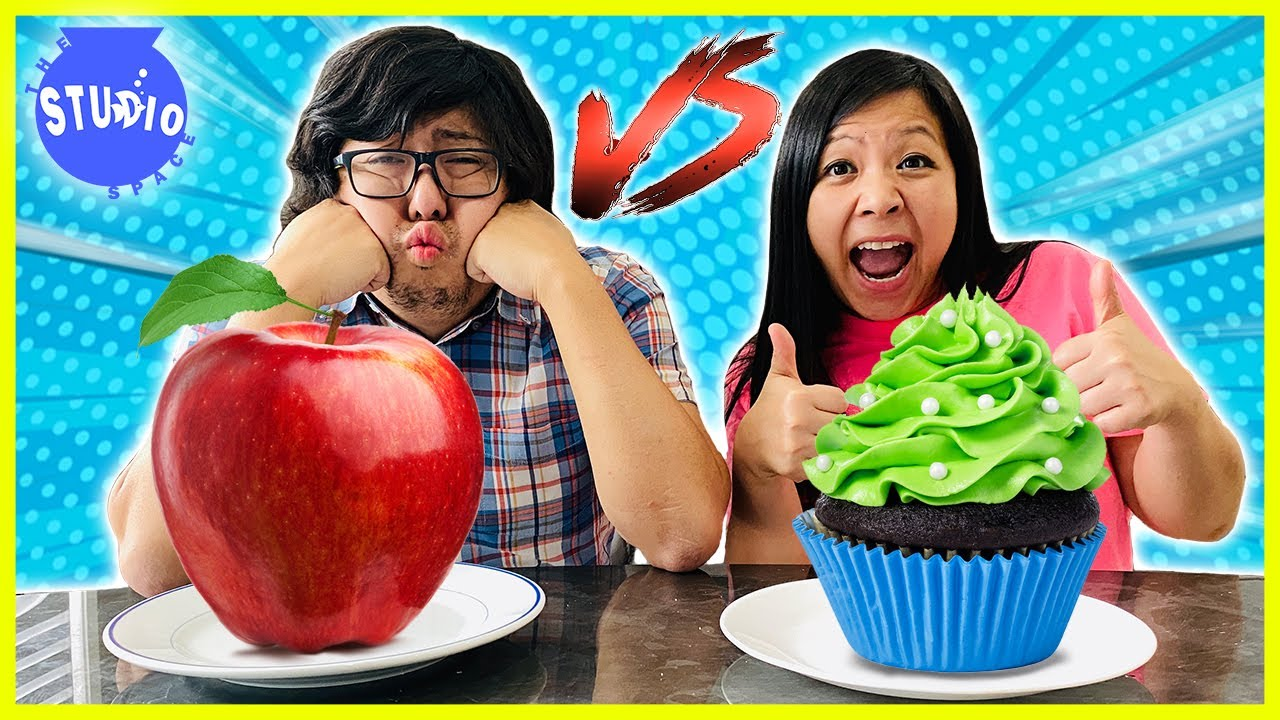 Healthy Food vs Unhealthy Food Challenge with Ryan's Mommy & Daddy!