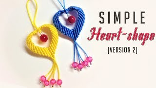 Macrame keychain tutorial - Another way to make a heart shape pattern - Làm móc khóa trái tim