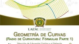 Geometría de Curvas: Radio de Curvatura (Fórmulas parte 1)