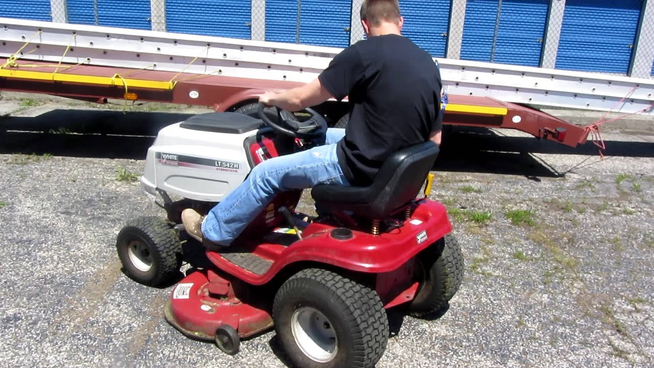 White Riding Mower Hydrostatic 42 Quot Cut Youtube