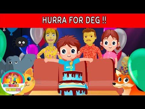 Hurra for deg !! | Hurra for deg som fyller ditt år! | Norske Barnesanger l barnesanger på norsk