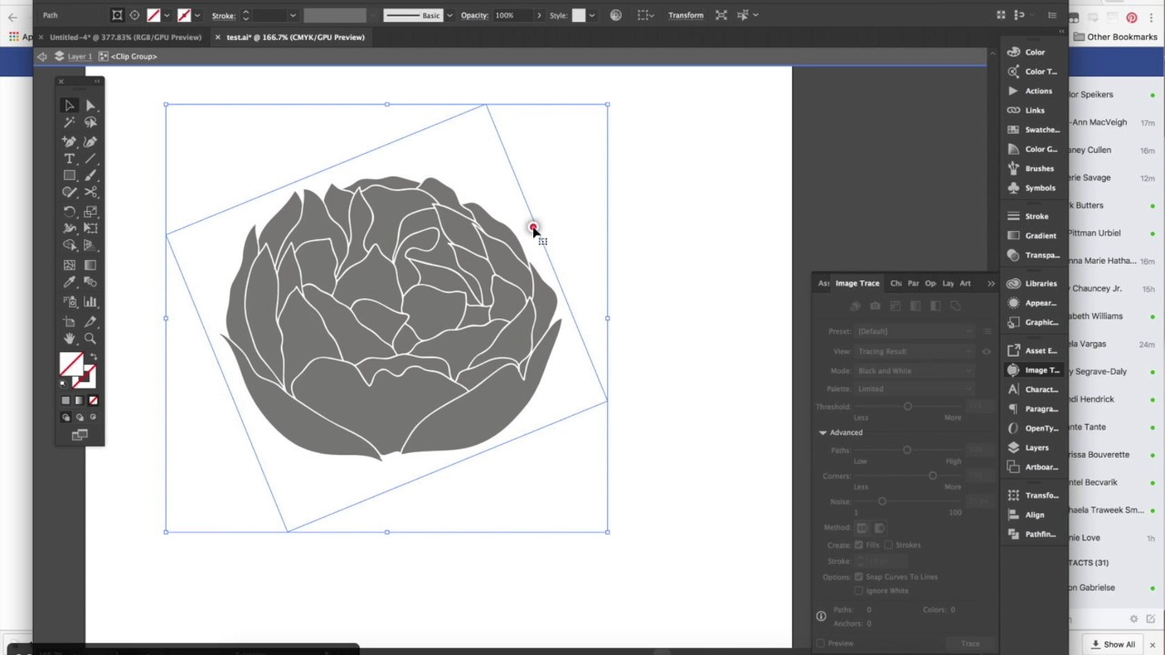 How To Image Trace A Png Object In Illustrator