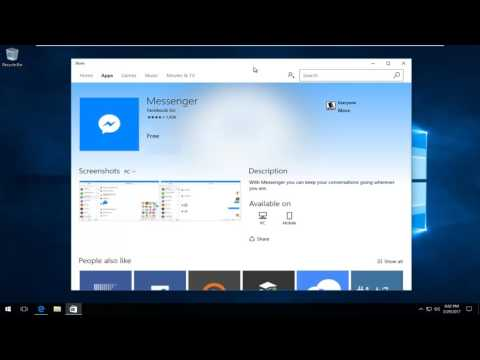 How To Download Facebook Messenger App On Windows 10