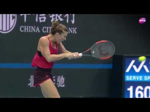 Simona Halep -  all shots of the day for 2017 - WTA featured
