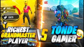 Grandmaster Top 1 Richest Pro Squad Vs Tonde Gamer & Ungraduate Gamer   - Garena Free Fire
